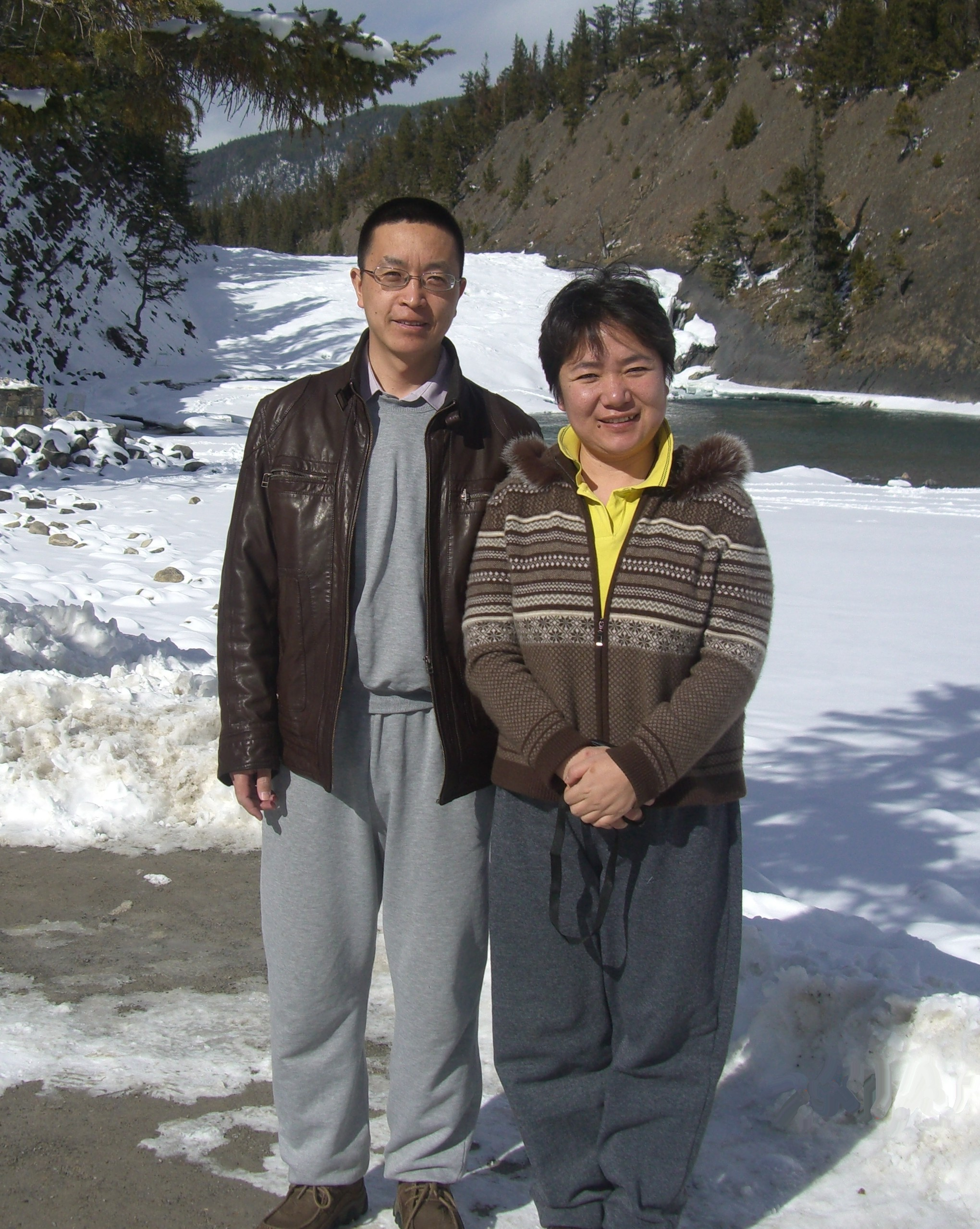 Cao Dayong and wife Wang Lijie